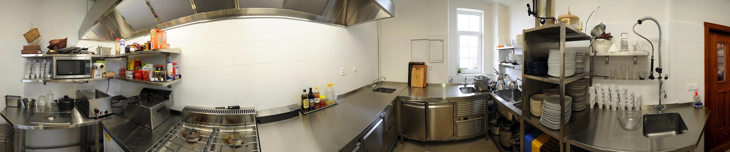 Panoramatický pohled v kuchyni